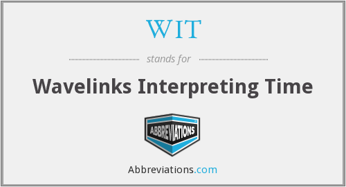 WIT - Wavelinks Interpreting Time