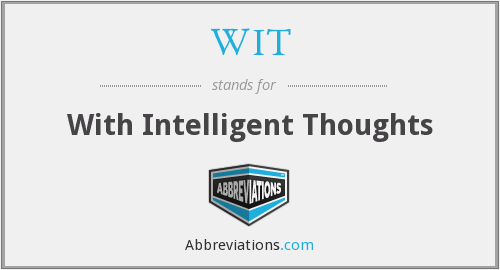 WIT - With Intelligent Thoughts