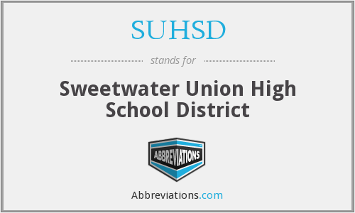 What does SUHSD stand for?
