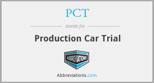 PCT - Production Car Trial