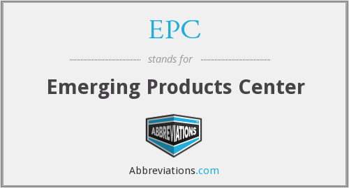EPC - Emerging Products Center