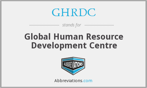 What does GHRDC stand for?