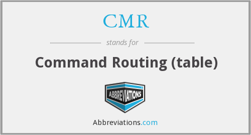 CMR - Command Routing (table)