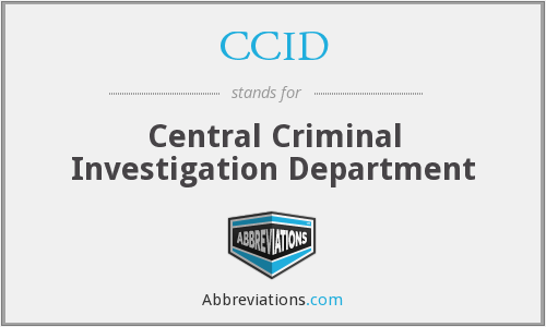 What does CCID stand for?