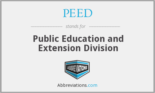 PEED - Public Education and Extension Division