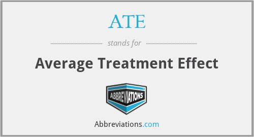 ATE - Average Treatment Effect