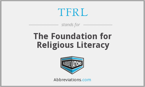 TFRL - The Foundation for Religious Literacy