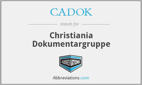 CADOK - Christiania Dokumentargruppe