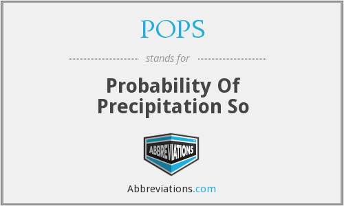 POPS - Probability Of Precipitation So