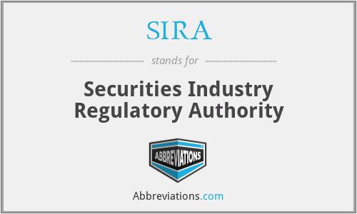 SIRA - Securities Industry Regulatory Authority