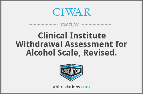 What does CIWAR stand for?