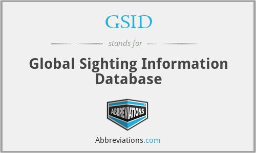 GSID - Global Sighting Information Database