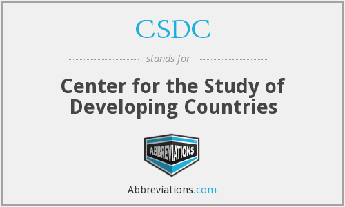 CSDC - Center for the Study of Developing Countries