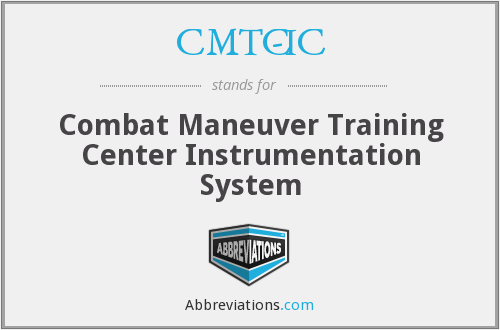 CMTC-IC - Combat Maneuver Training Center Instrumentation System