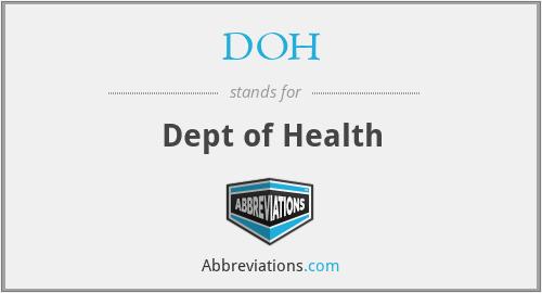 DOH - Dept of Health