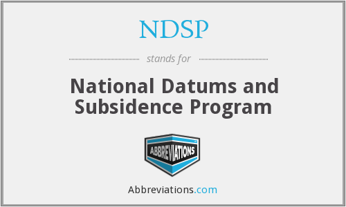 NDSP - National Datums and Subsidence Program