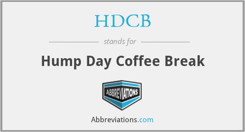 HDCB - Hump Day Coffee Break