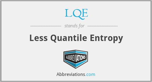LQE - Less Quantile Entropy
