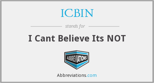 What does ICBIN stand for?