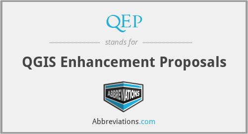 QEP - QGIS Enhancement Proposals
