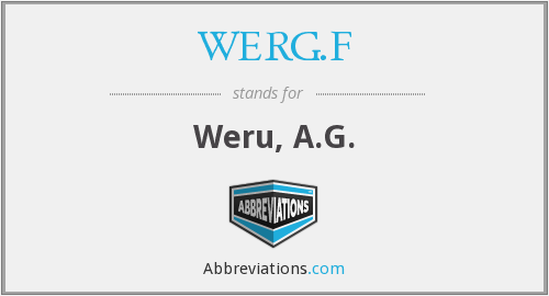 WERG.F - Weru, A.G.