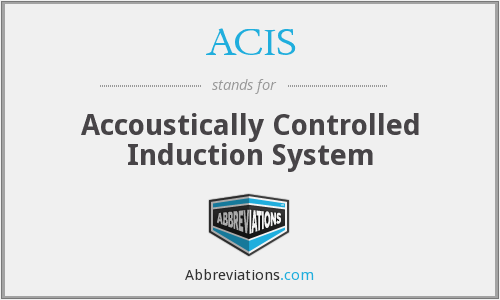 ACIS - Accoustically Controlled Induction System