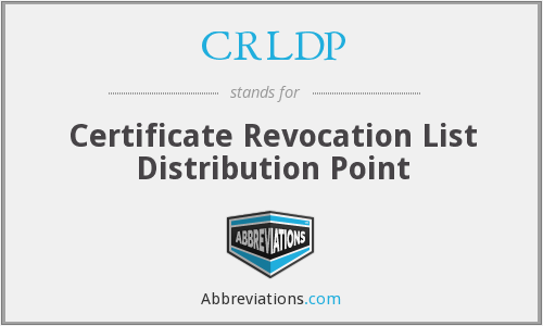 What does CRLDP stand for?