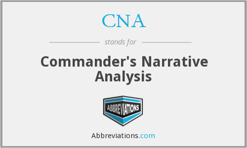 CNA - Commander's Narrative Analysis