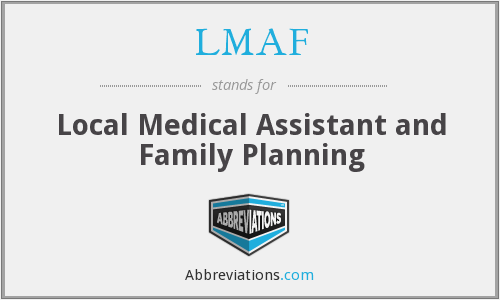 LMAF - Local Medical Assistant and Family Planning