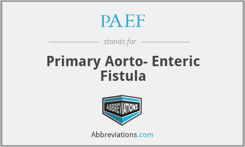 PAEF - Primary Aorto- Enteric Fistula