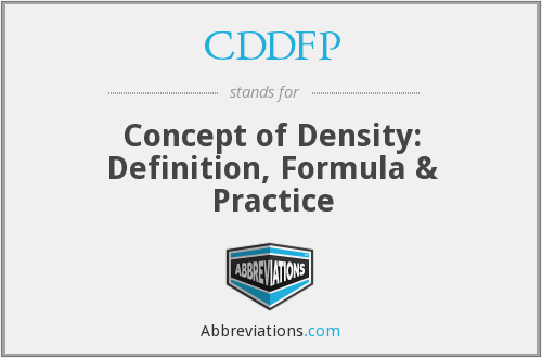 What does CDDFP stand for?