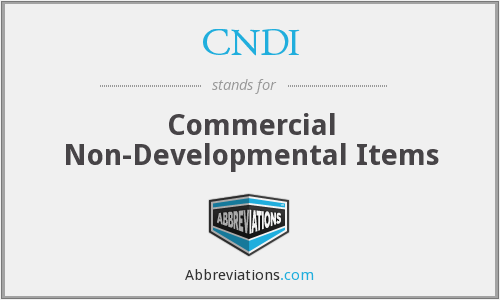 CNDI - Commercial Non-Developmental Items