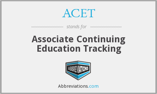 ACET - Associate Continuing Education Tracking