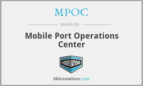 MPOC - Mobile Port Operations Center