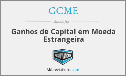 GCME - Ganhos de Capital em Moeda Estrangeira