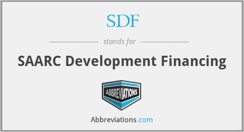 SDF - SAARC Development Financing