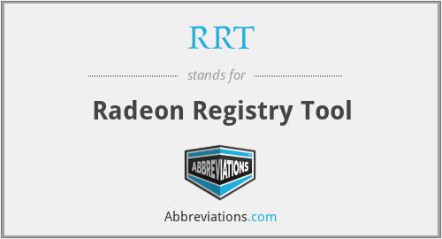 RRT - Radeon Registry Tool