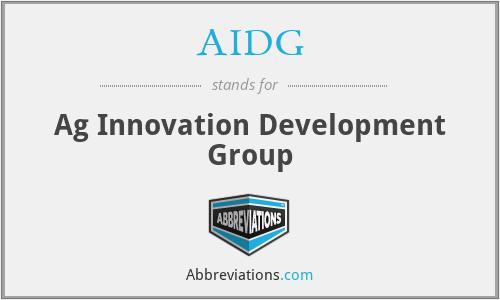 AIDG - Ag Innovation Development Group