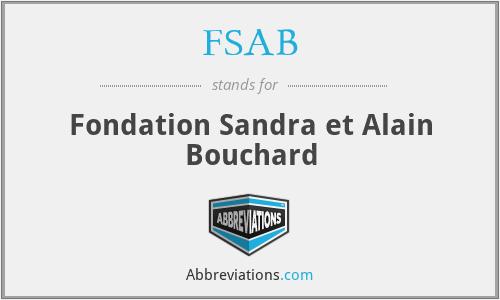 FSAB - Fondation Sandra et Alain Bouchard