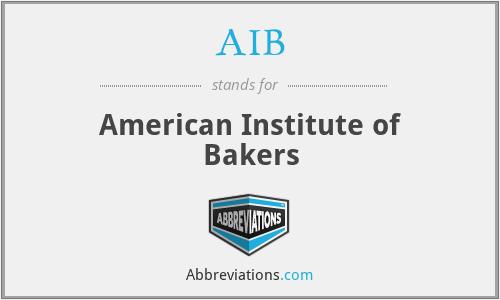 AIB - American Institute of Bakers