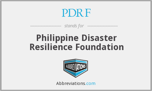 PDRF - Philippine Disaster Resilience Foundation