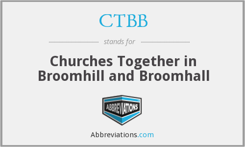 CTBB - Churches Together in Broomhill and Broomhall