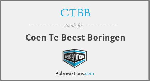 CTBB - Coen Te Beest Boringen