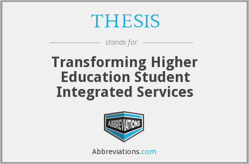What does THESIS stand for?