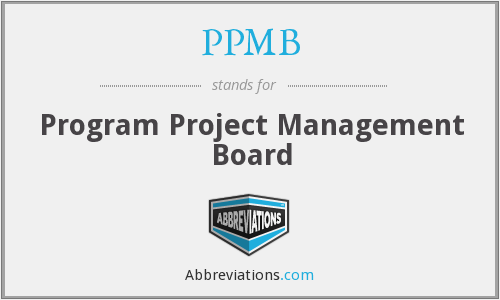 PPMB - Program Project Management Board