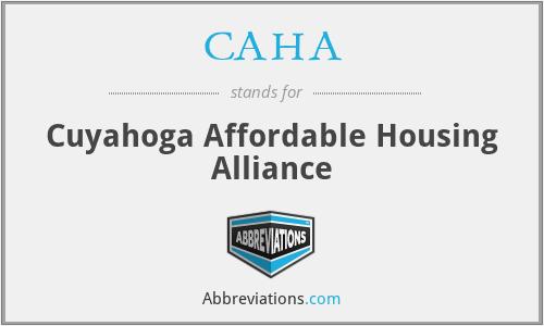 CAHA - Cuyahoga Affordable Housing Alliance