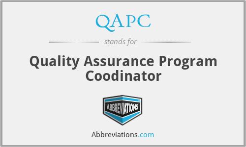 QAPC - Quality Assurance Program Coodinator