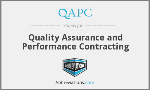 QAPC - Quality Assurance and Performance Contracting