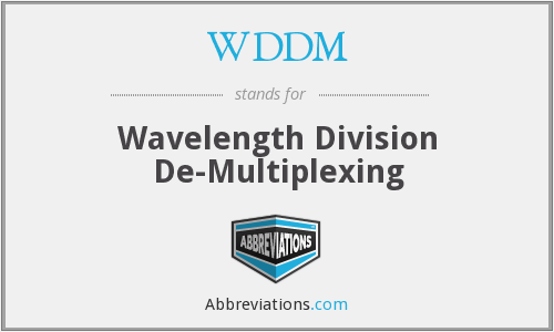WDDM - Wavelength Division De-Multiplexing