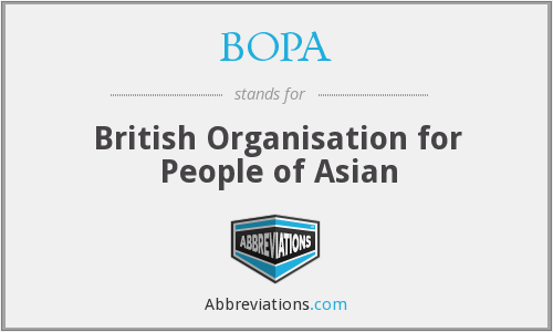 BOPA - British Organisation for People of Asian